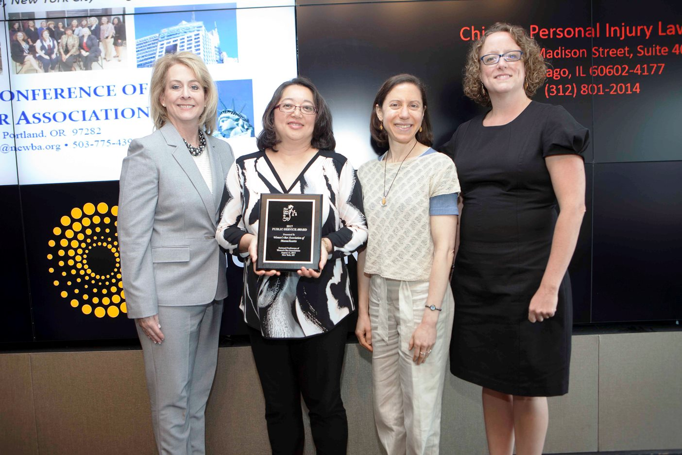 Women's Bar Association of Massachusetts Group Awards Photo