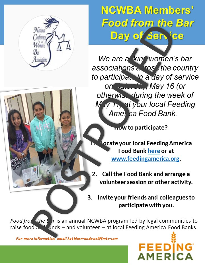 2020 Food from the Bar Day of Service Postponed